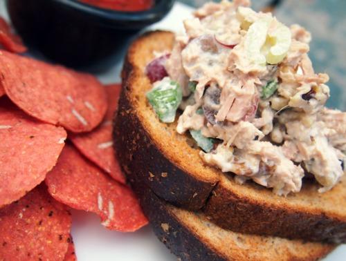 Light Tuna Salad on Whole Grain Bread
