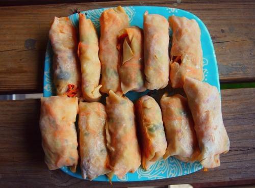 Healthy Baked Shrimp Spring Rolls