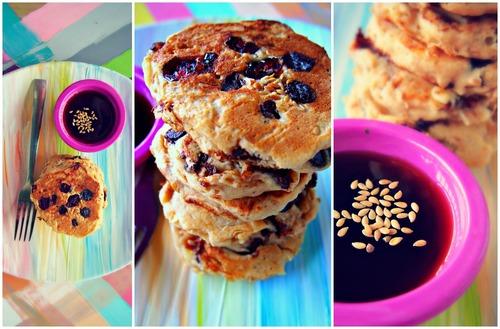 Chocolate Chip Cranberry Banana Pancakes W/Flax!