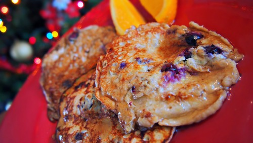 Blueberry Banana Egg Pancakes