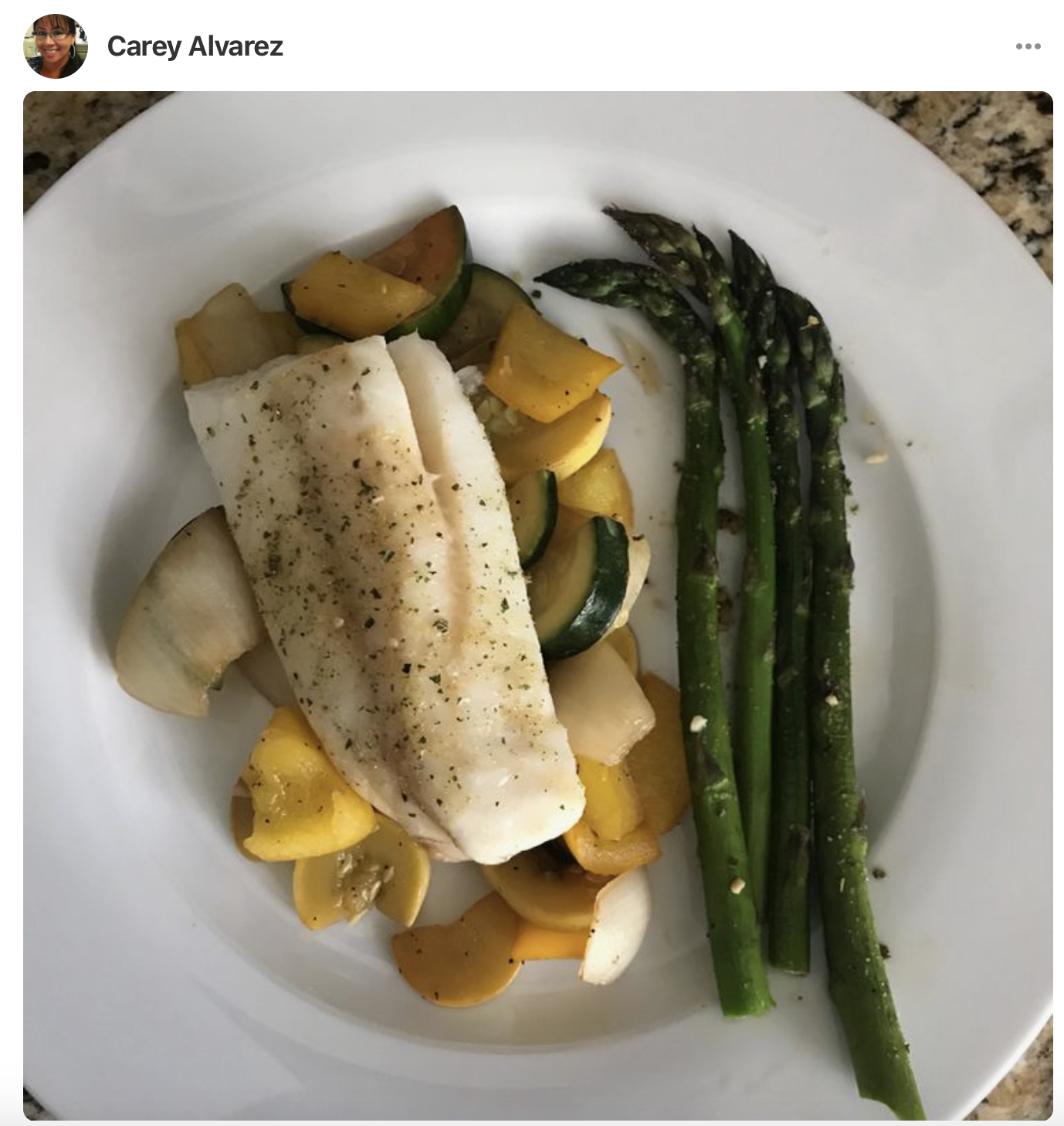 baked and seasoned cod recipe with roasted vegetables