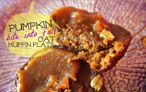 30 Calorie Pumpkin Oat Muffin Flats!