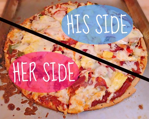 Sunday Night His Side/Her Side Pizza!
