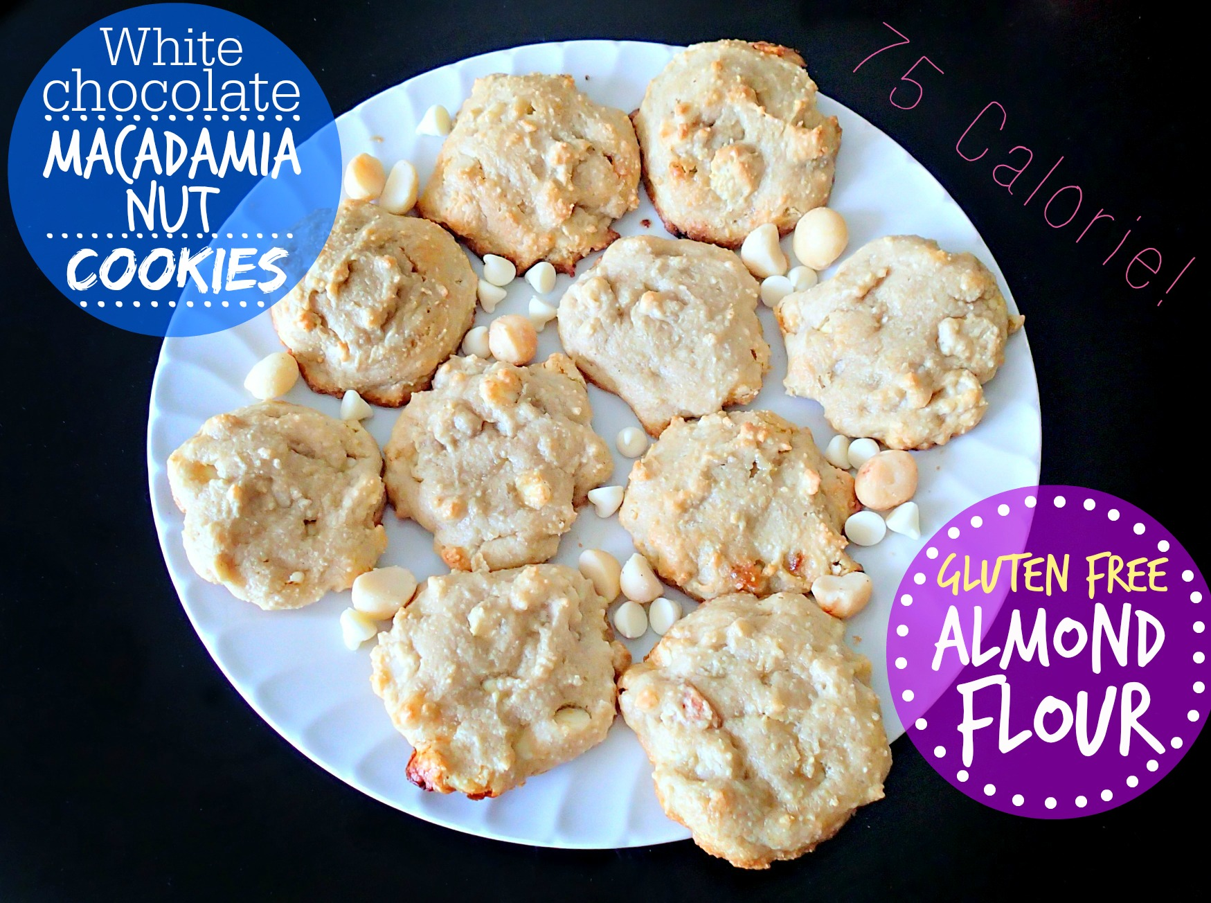 White Chocolate Macadamia Nut Cookies Made With Almond Flour