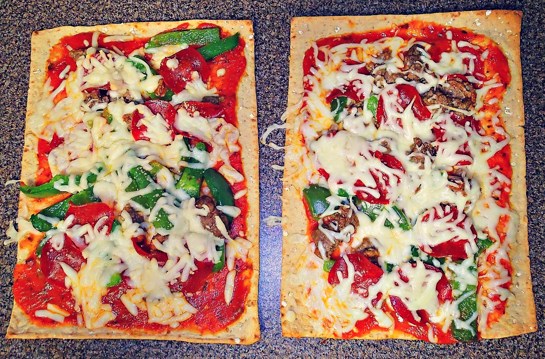 250 calorie flatbread pizza