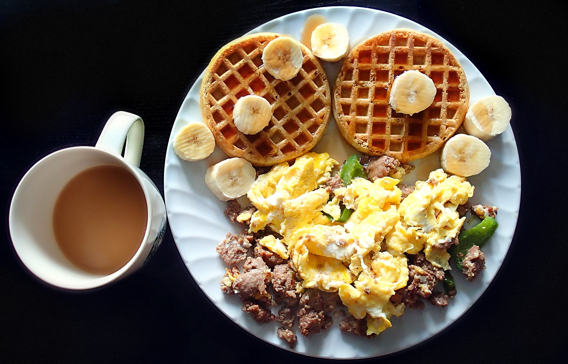 Breakfast Egg & Waffles