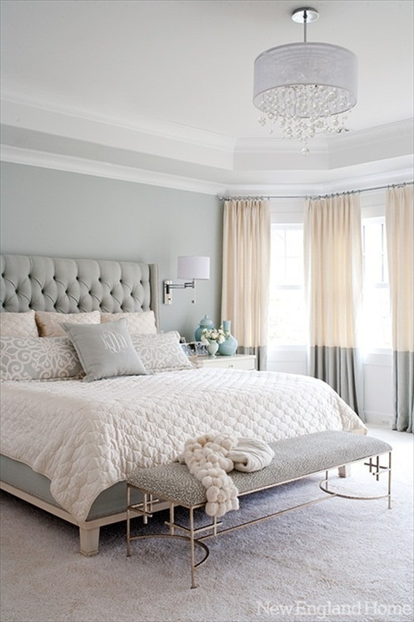 Grey-Bedroom-Ideas-With-Gracefull-Clothed-also-luxury-pendant-lamp