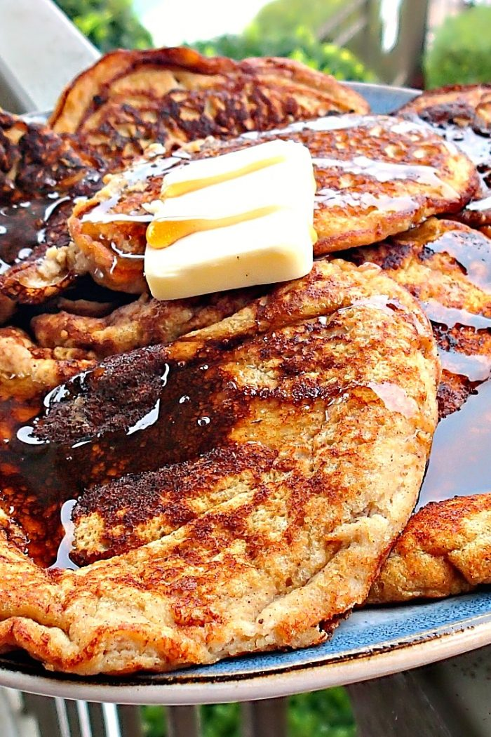 67 Calorie Gluten Free/Dairy Free Banana Bread Pancakes.