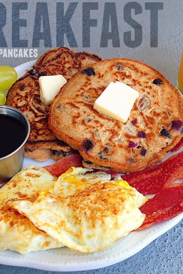 Big Breakfast: Whole Wheat Blueberry Pecan Pancakes