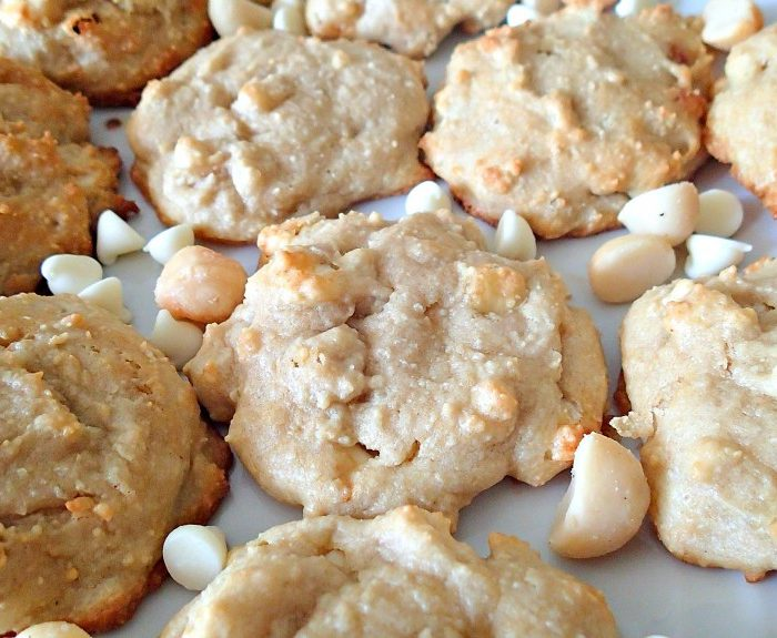 Almond Flour White Chocolate Macadamia Nut Cookies!