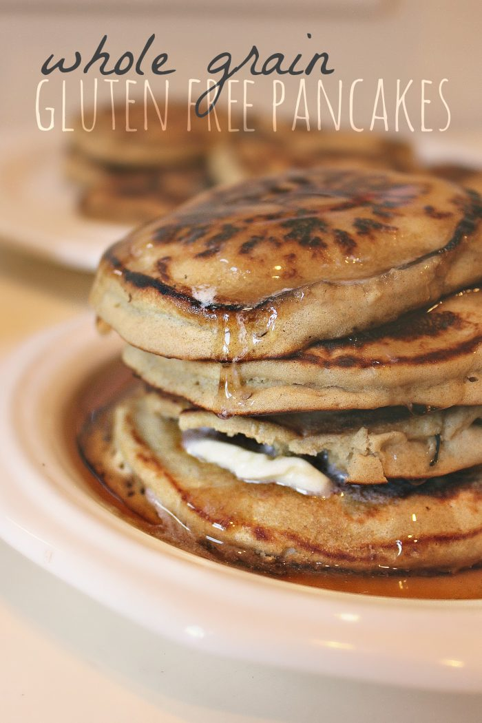 Whole Grain Gluten Free Pancakes