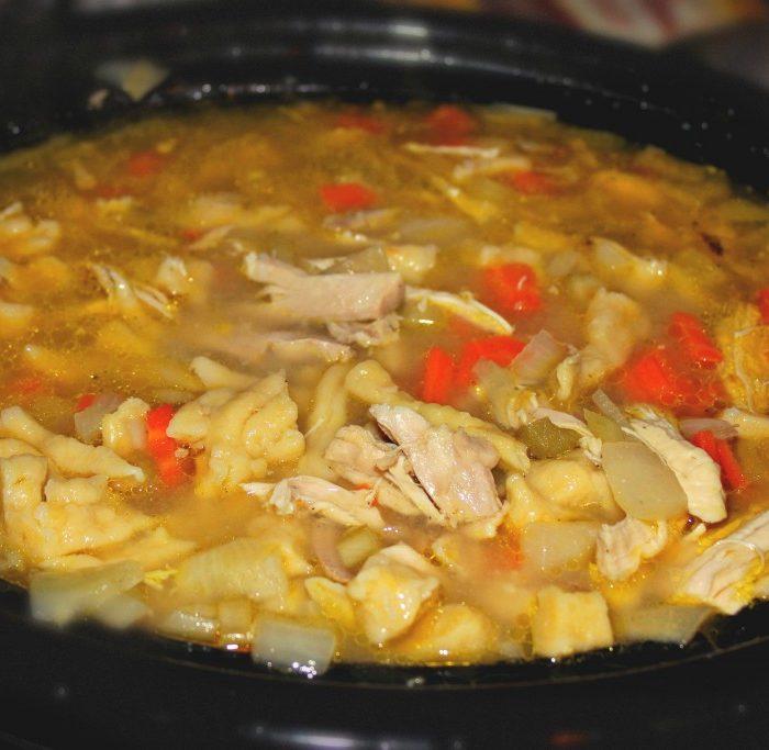 Crockpot Chicken & Noodle Soup