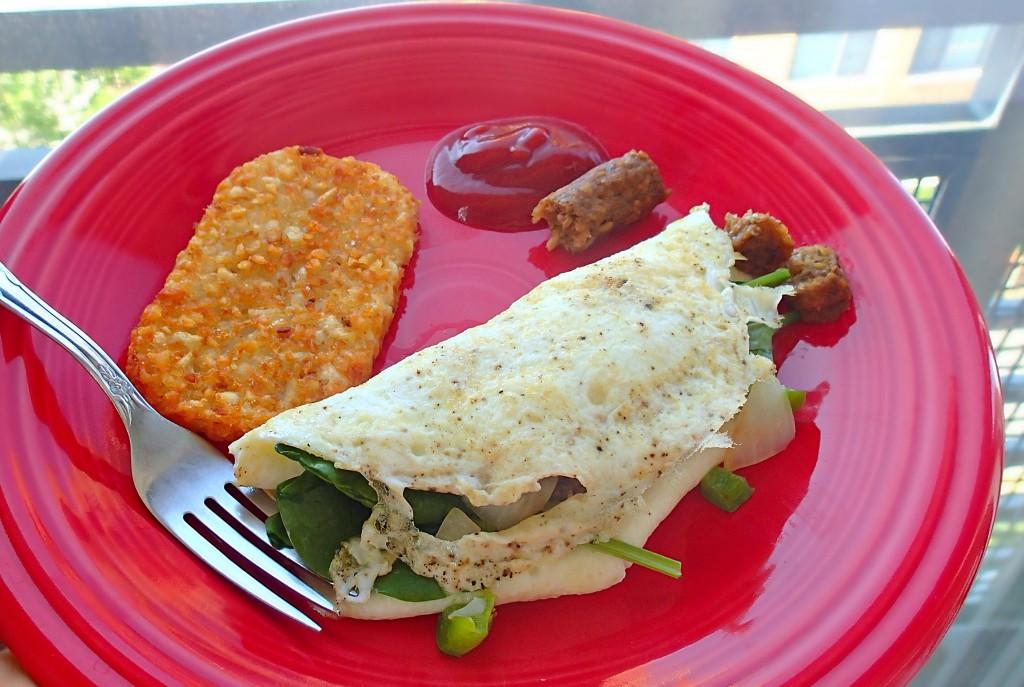 egg white vegetarian spinach omelet
