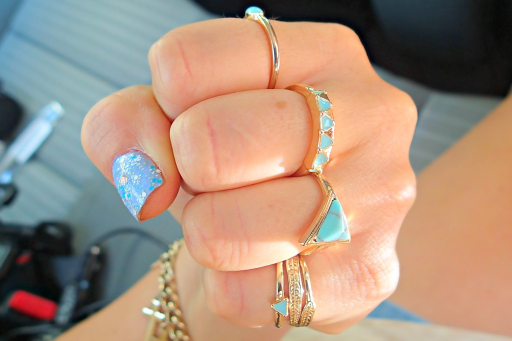 turquoise rings h&m