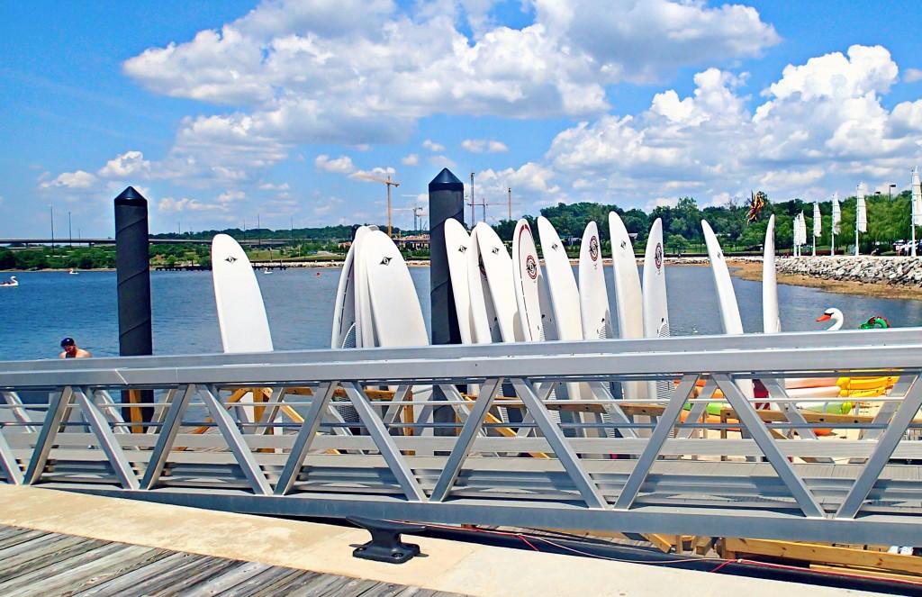 Paddle boardin National Harbor Washington D.C.