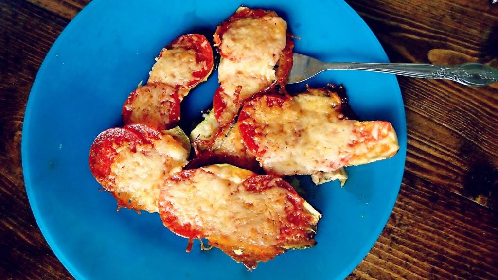 Zucchini Pizzas