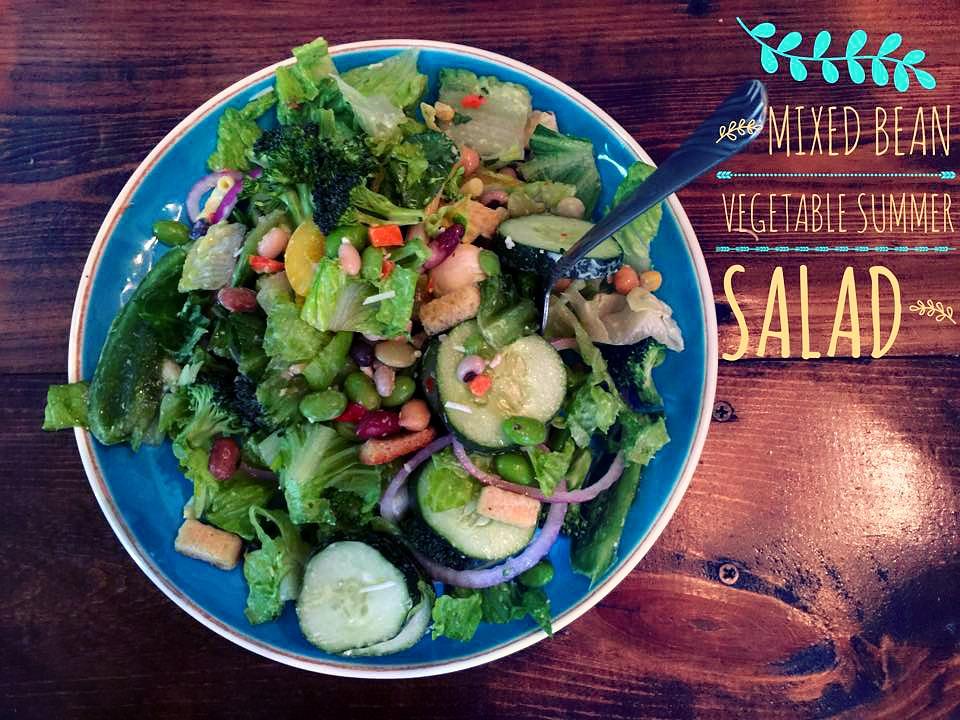 mixed bean summer salad