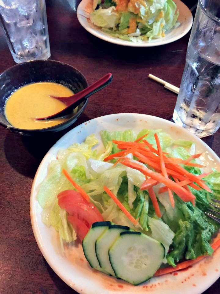house salad yama ginger dressing