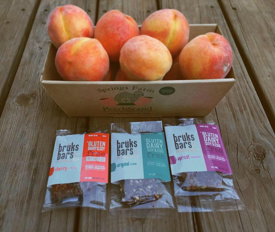 spring farm peaches bruks bars