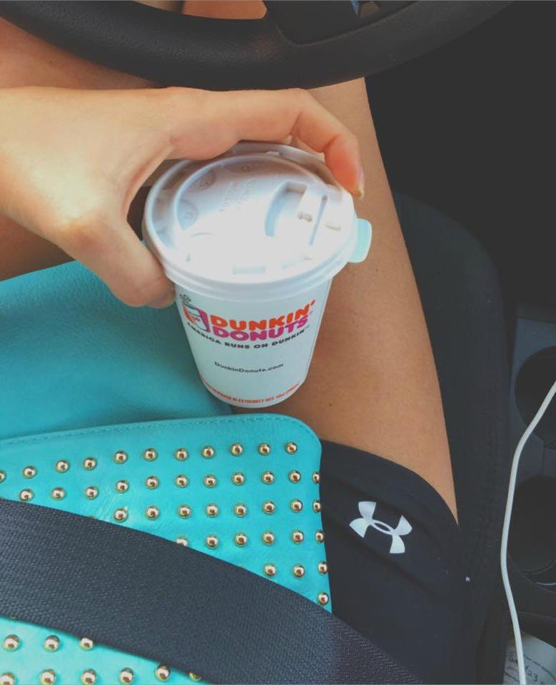 dunkin donuts coffee underarmor taralynn mcnitt