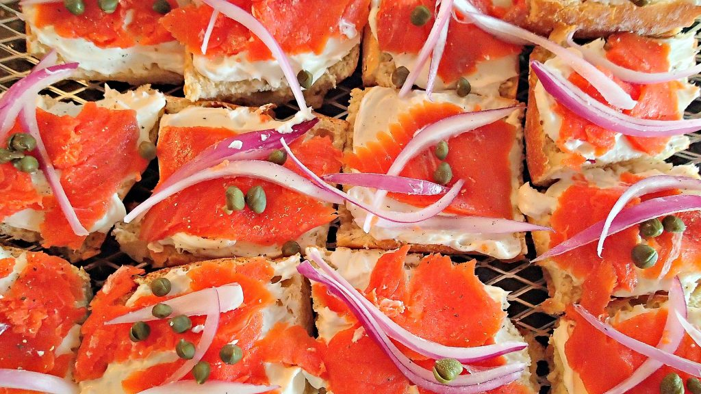 Lemon Infused Cream Cheese Smoked Salmon Baguettes