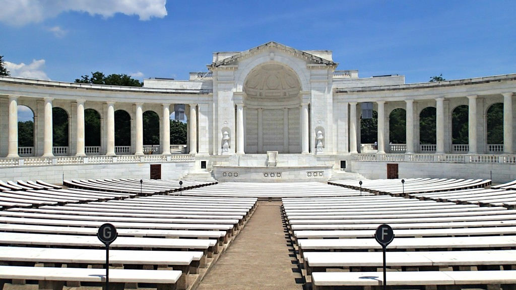 The Memorial Amphitheater at Arlington National Cemetery in Arlington, VA,