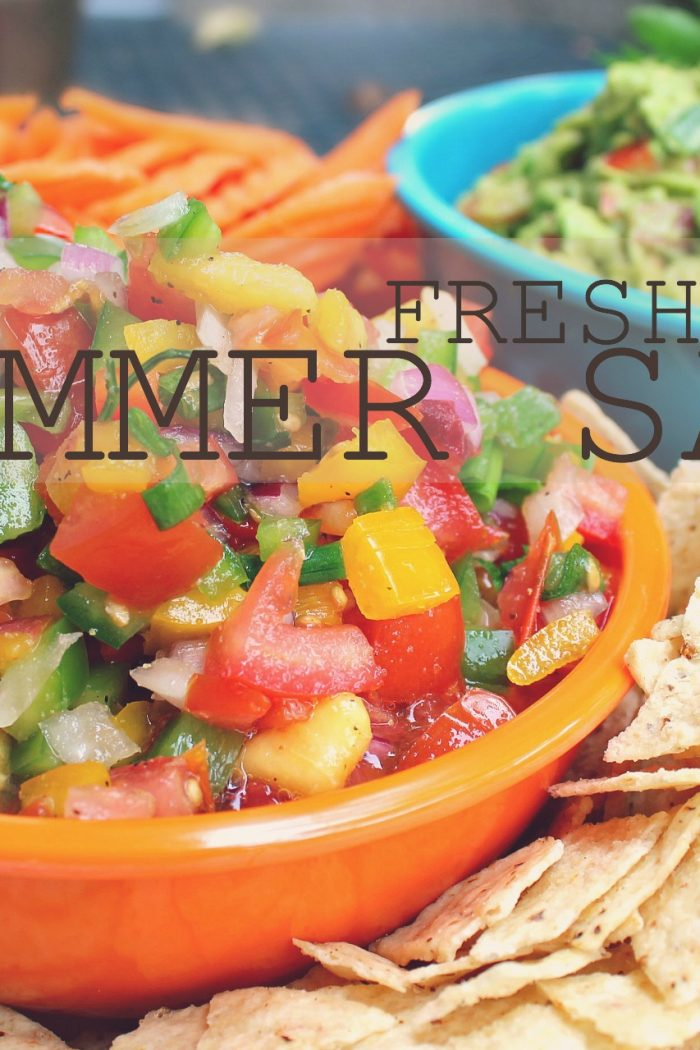 Sweet Fresh Peach Summer Salsa