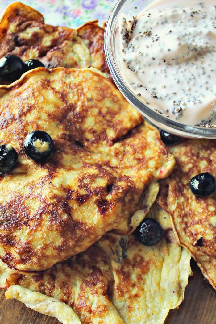 Blueberry Banana-Egg Pancakes