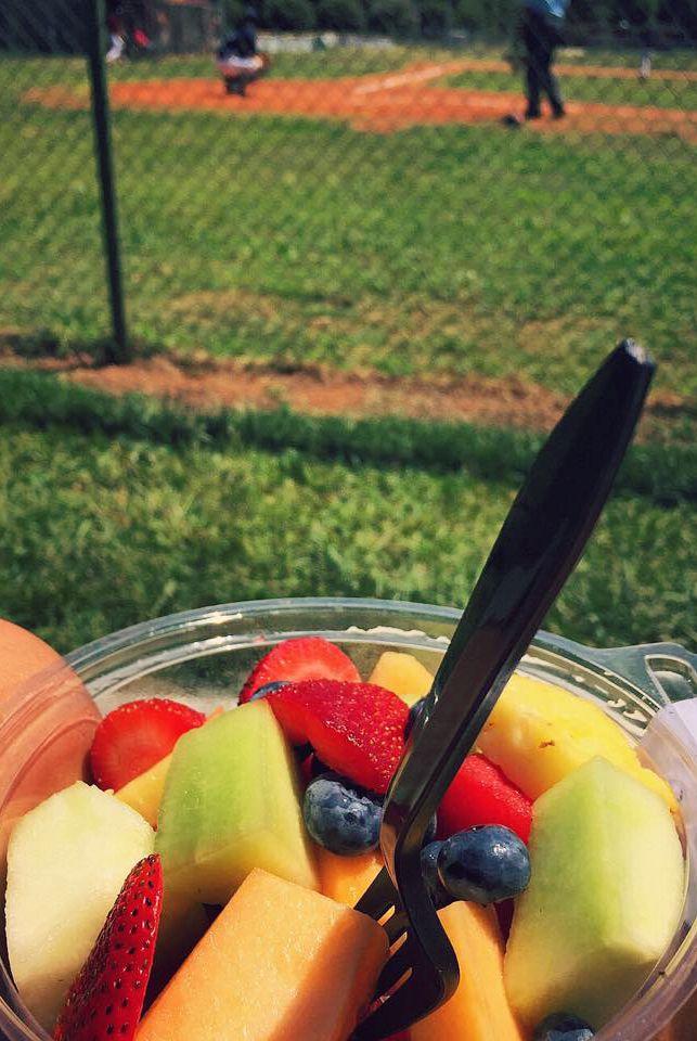 fruit and baseball