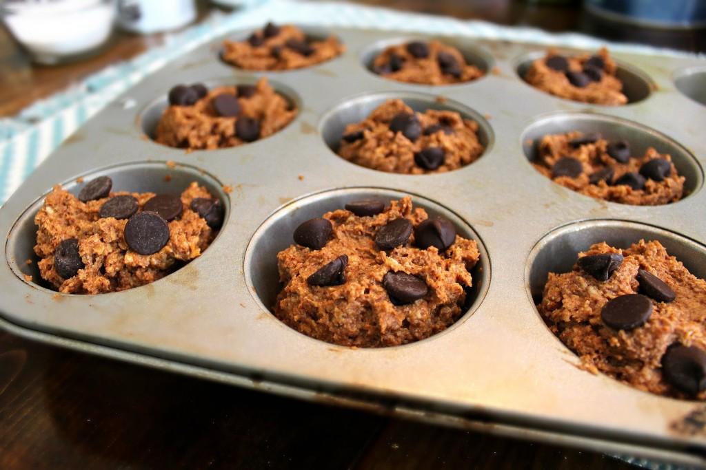 Healthy Pumpkin Oat Muffins