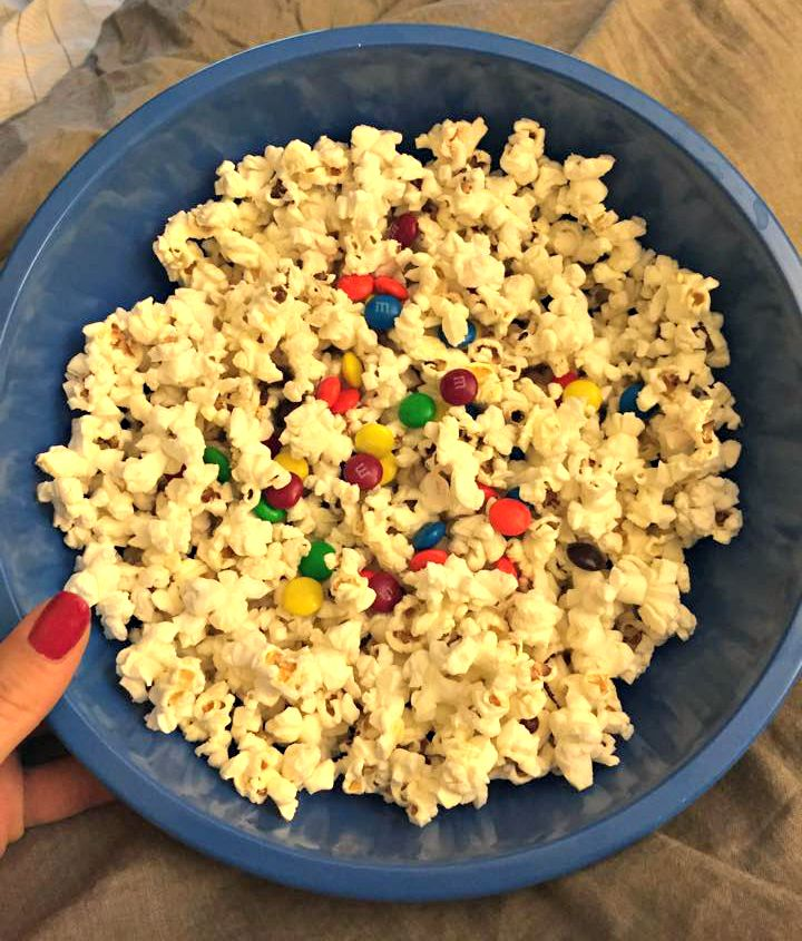 popcorn and m&ms