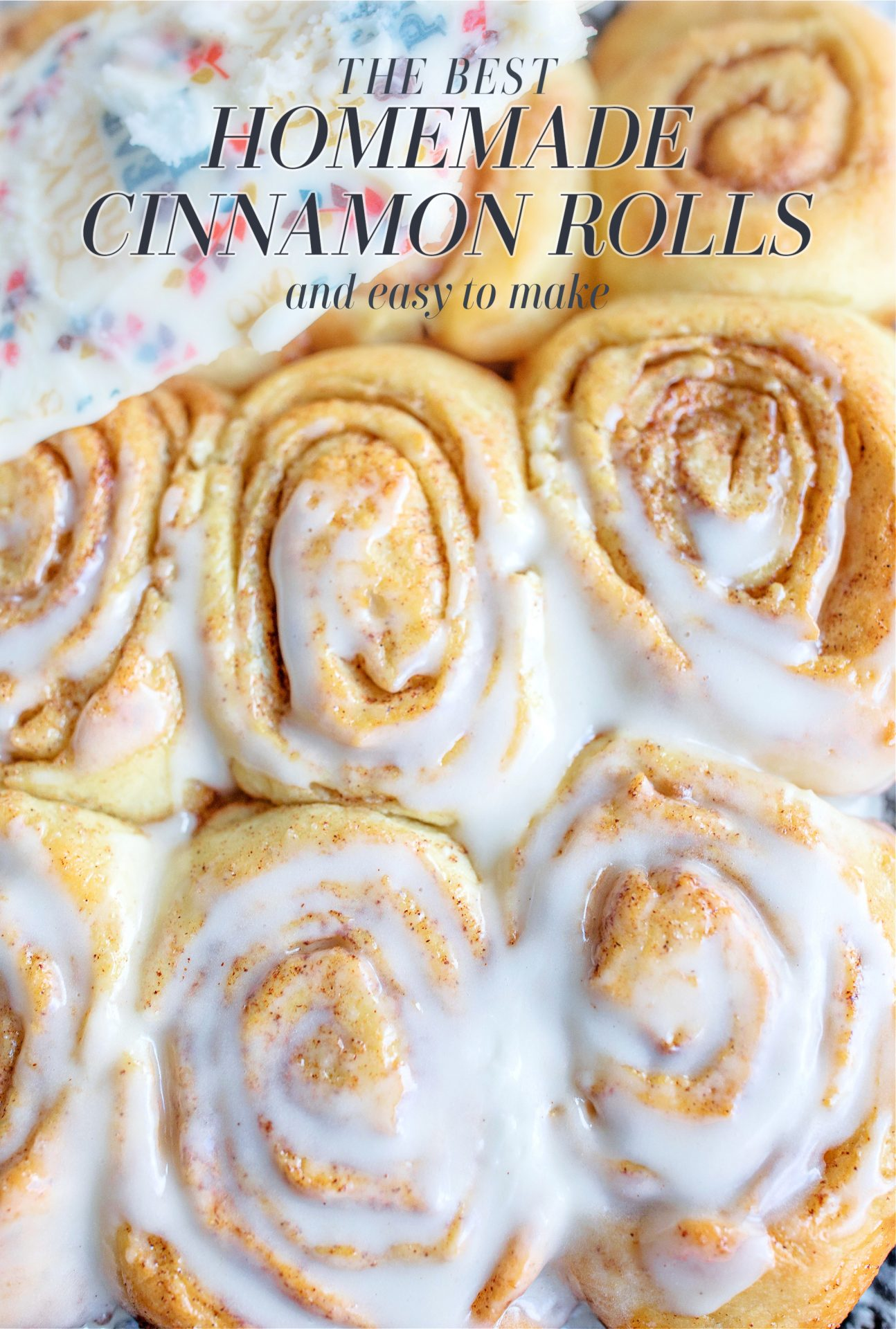 the best cinnamon rolls you'll ever eat, easy to make cinnamon rolls, cinnamon rolls, baking, baked cinnamon rolls, cinnamon rolls from scratch, homemade cinnamon buns, frosting, vanilla frosting, cinnamon rolls, frosted cinnamon rolls,