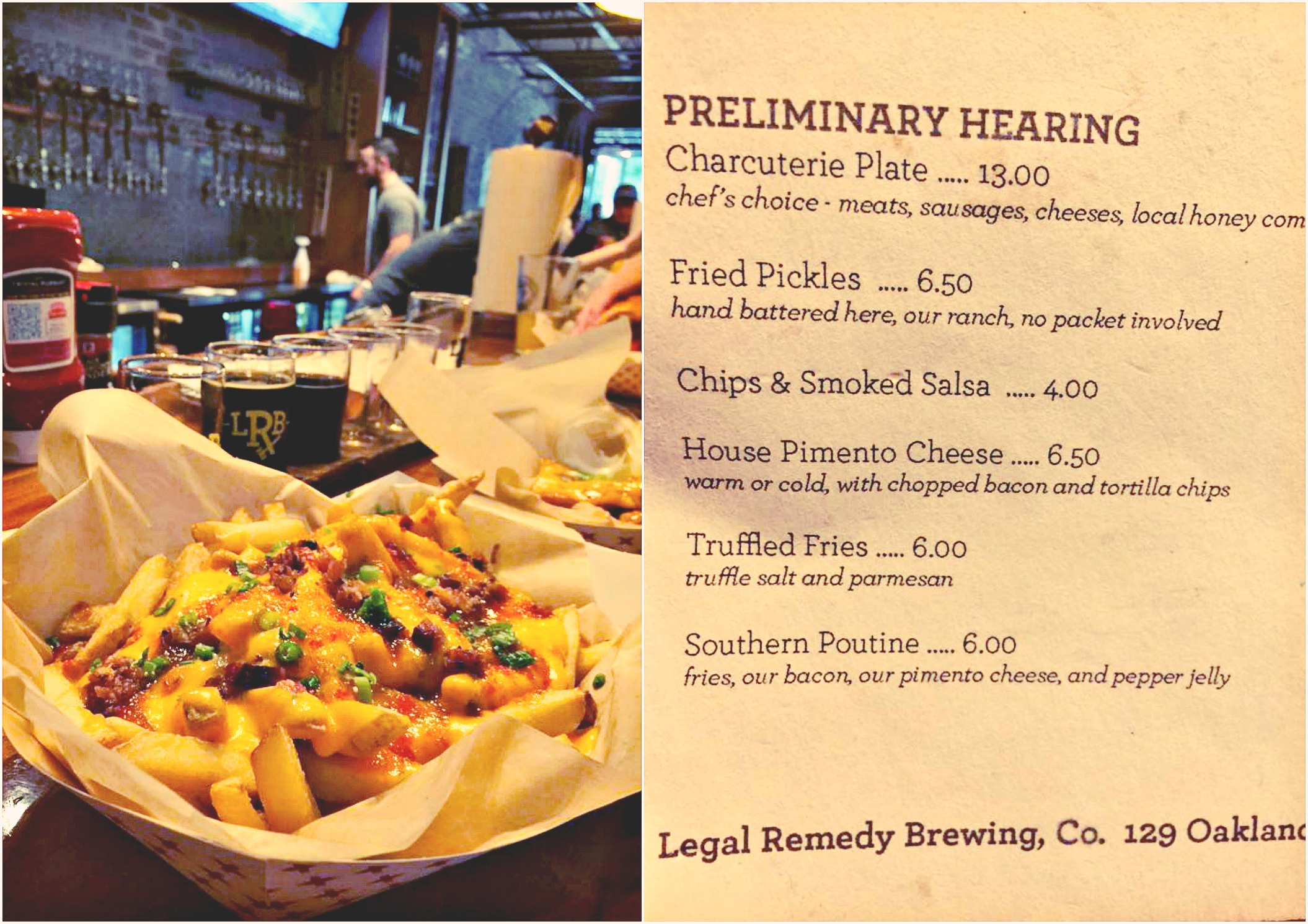Legal Remedy Brewery Rock Hill SC Southern Poutine