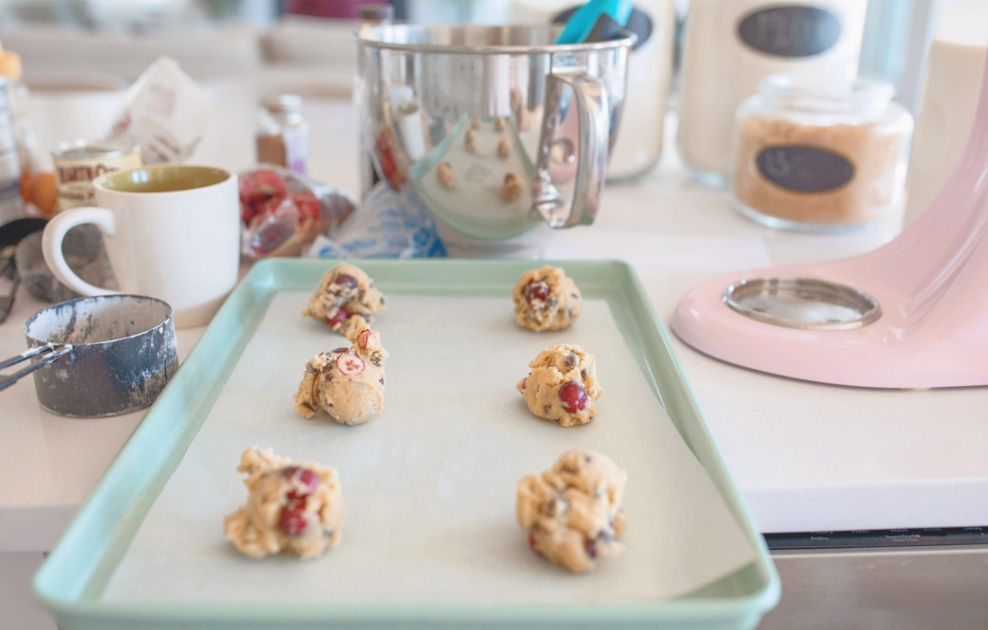 Perfect Chewy And Gooey Chocolate Chip Cranberry Cookies Simply Taralynn