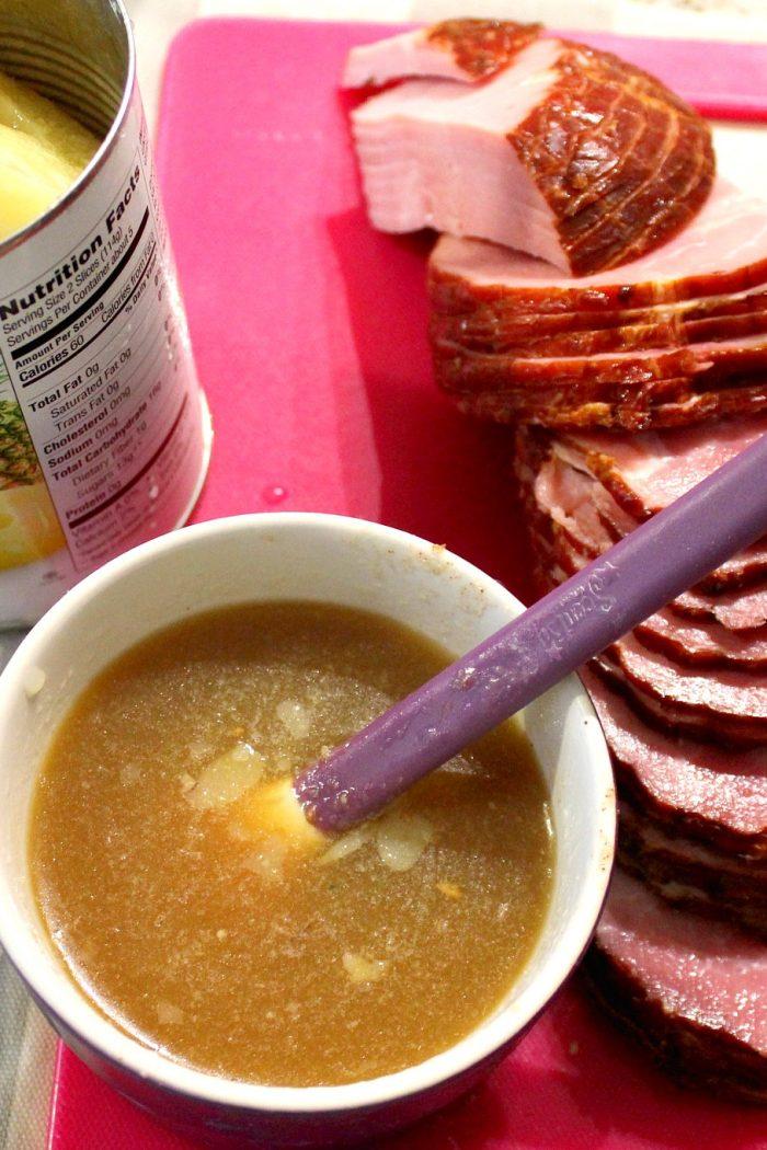 Glazed Pineapple Pecan Ham