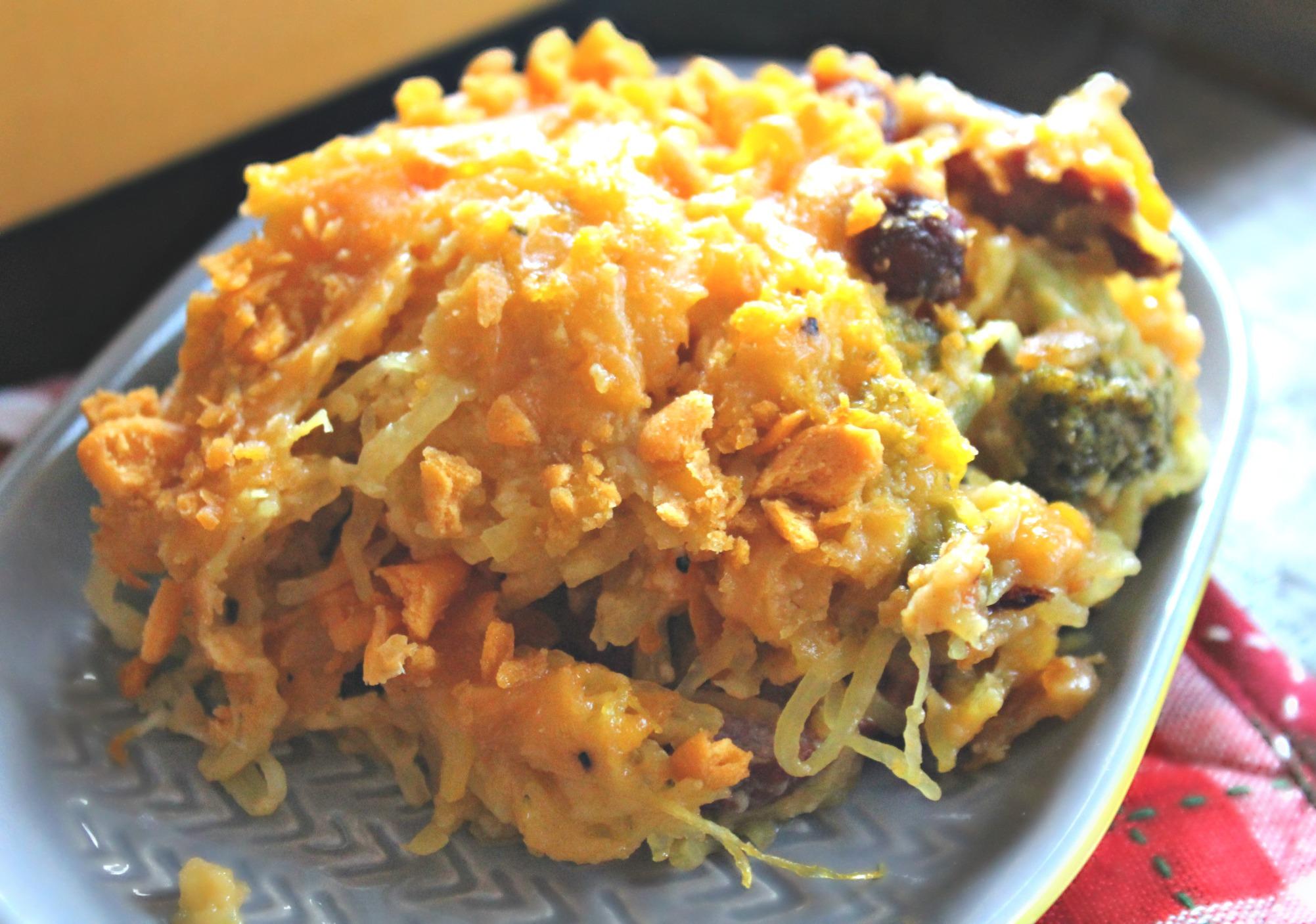 Cheesy Weeny Spaghetti Squash Casserole - Simply Taralynn