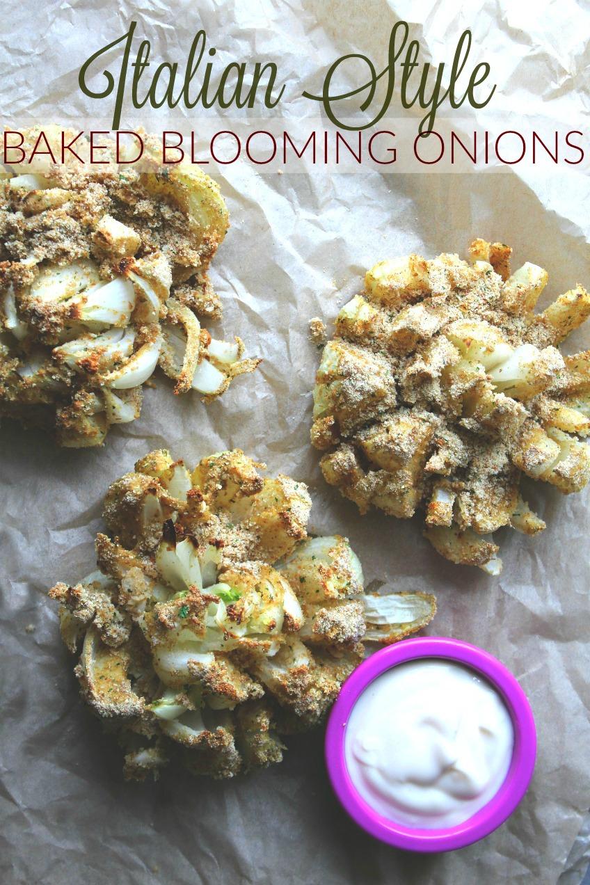 Italian Style Baked Blooming Onion
