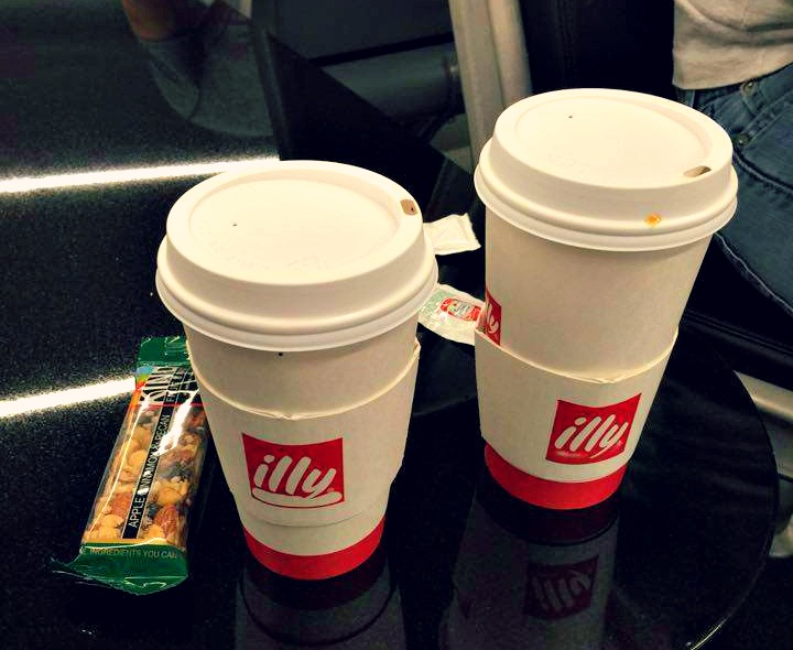 Airport Coffee and a Kind Bar Illy