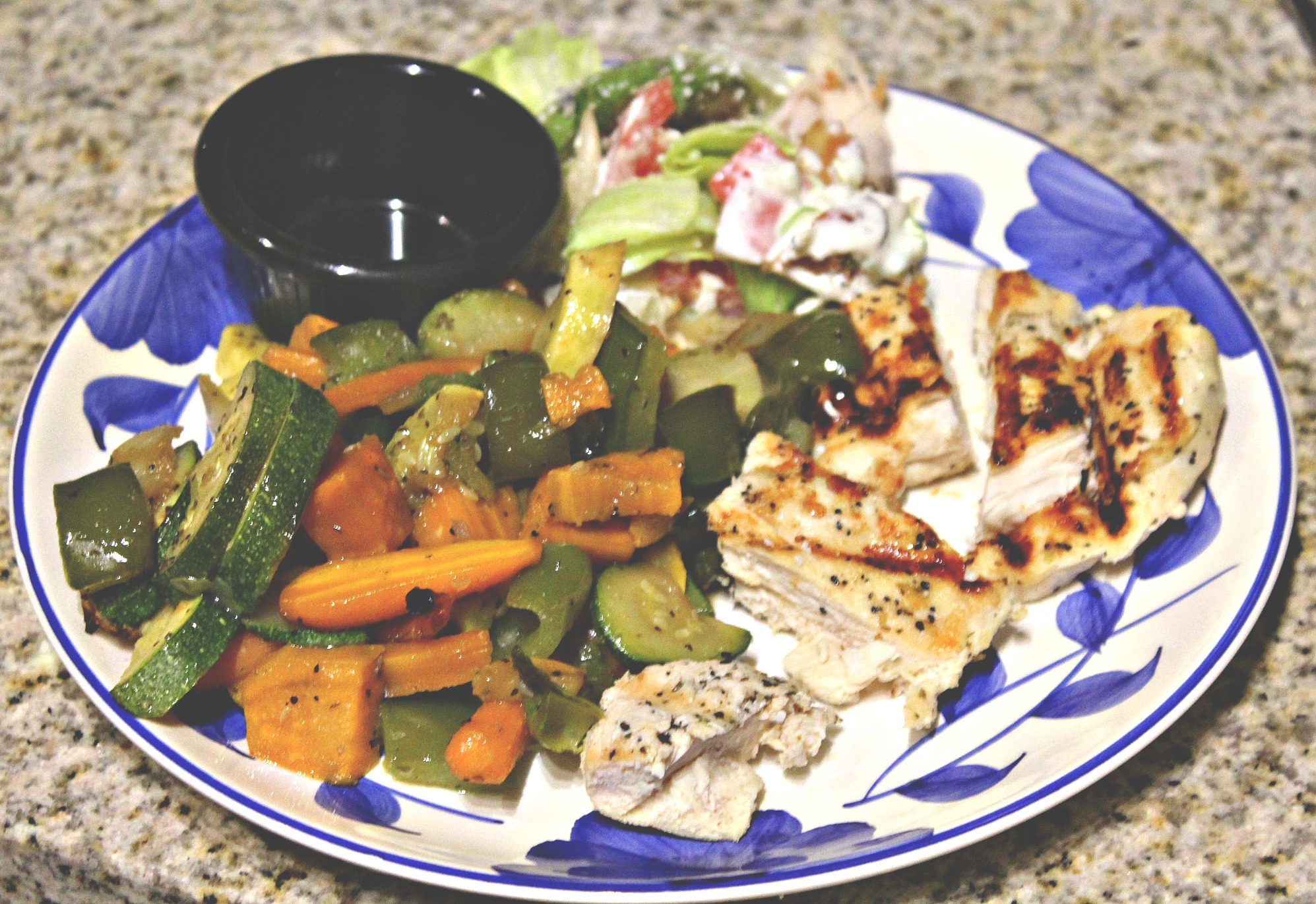 Grilled Chicken, Roasted Vegetables & Healthy Dinner