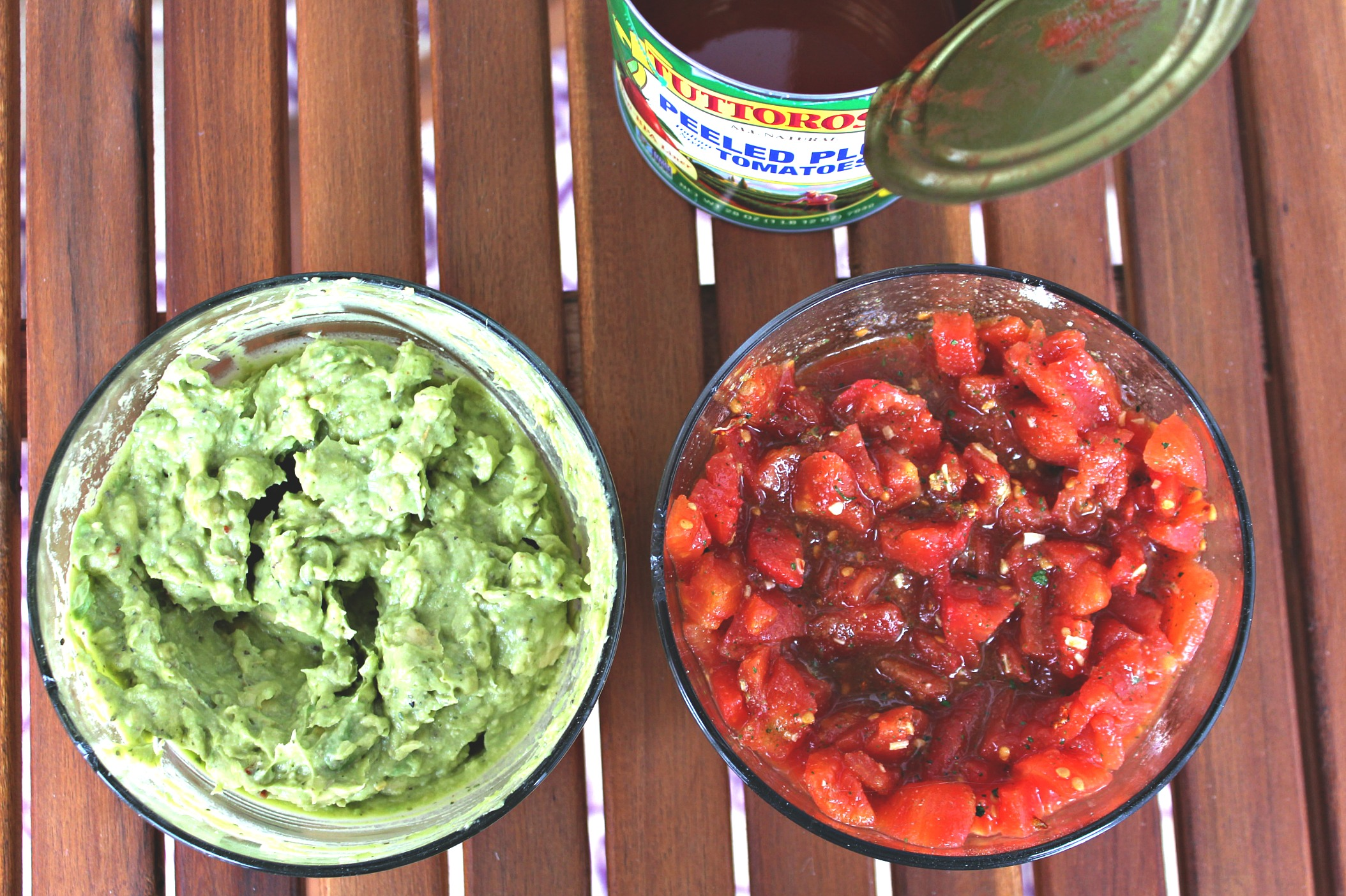 Tuttorosso Peeled Plum Tomato Salsa & Guacamole: Same Ingredients, Different Recipes!