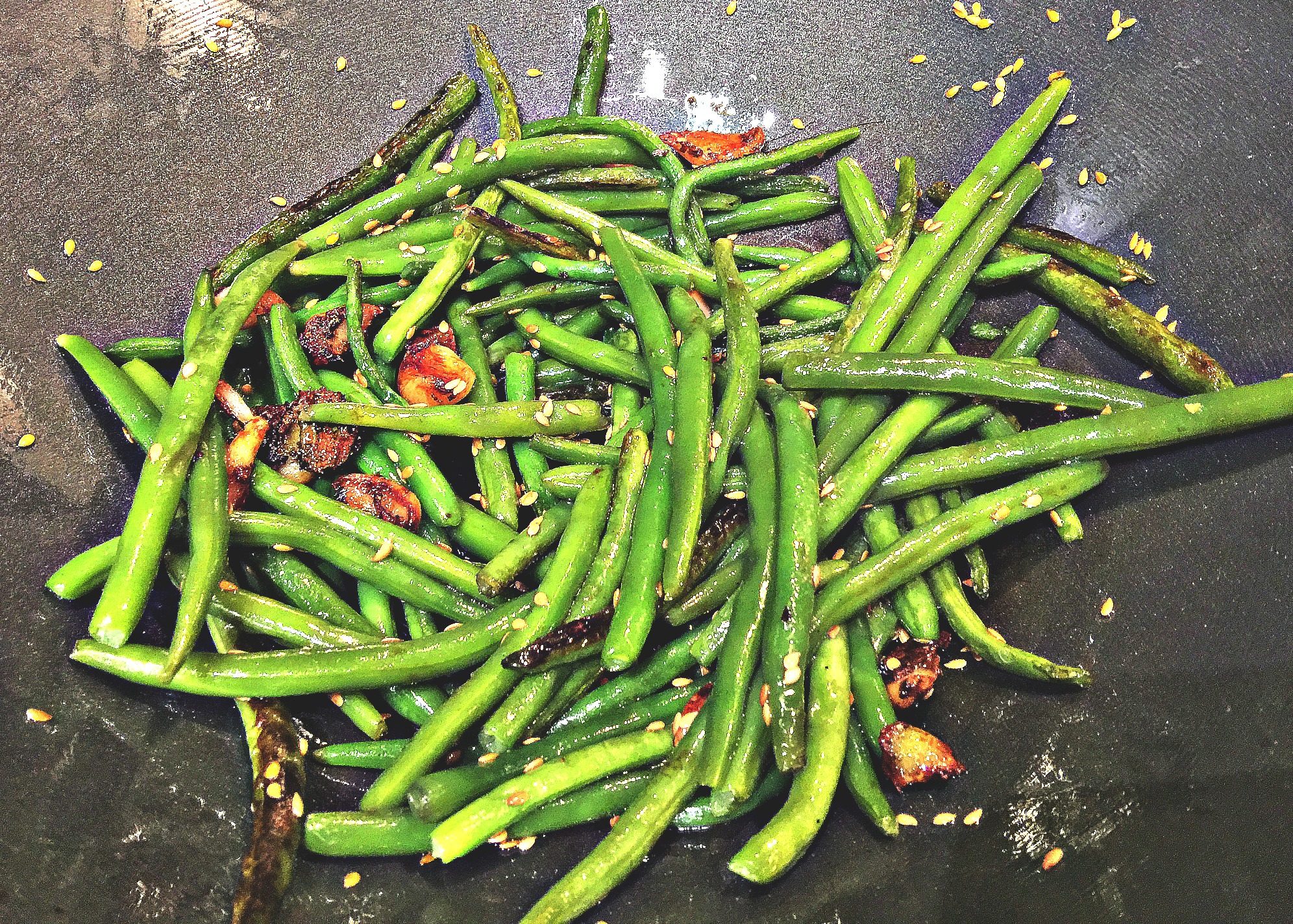 Honey Flaxseed Green Beans
