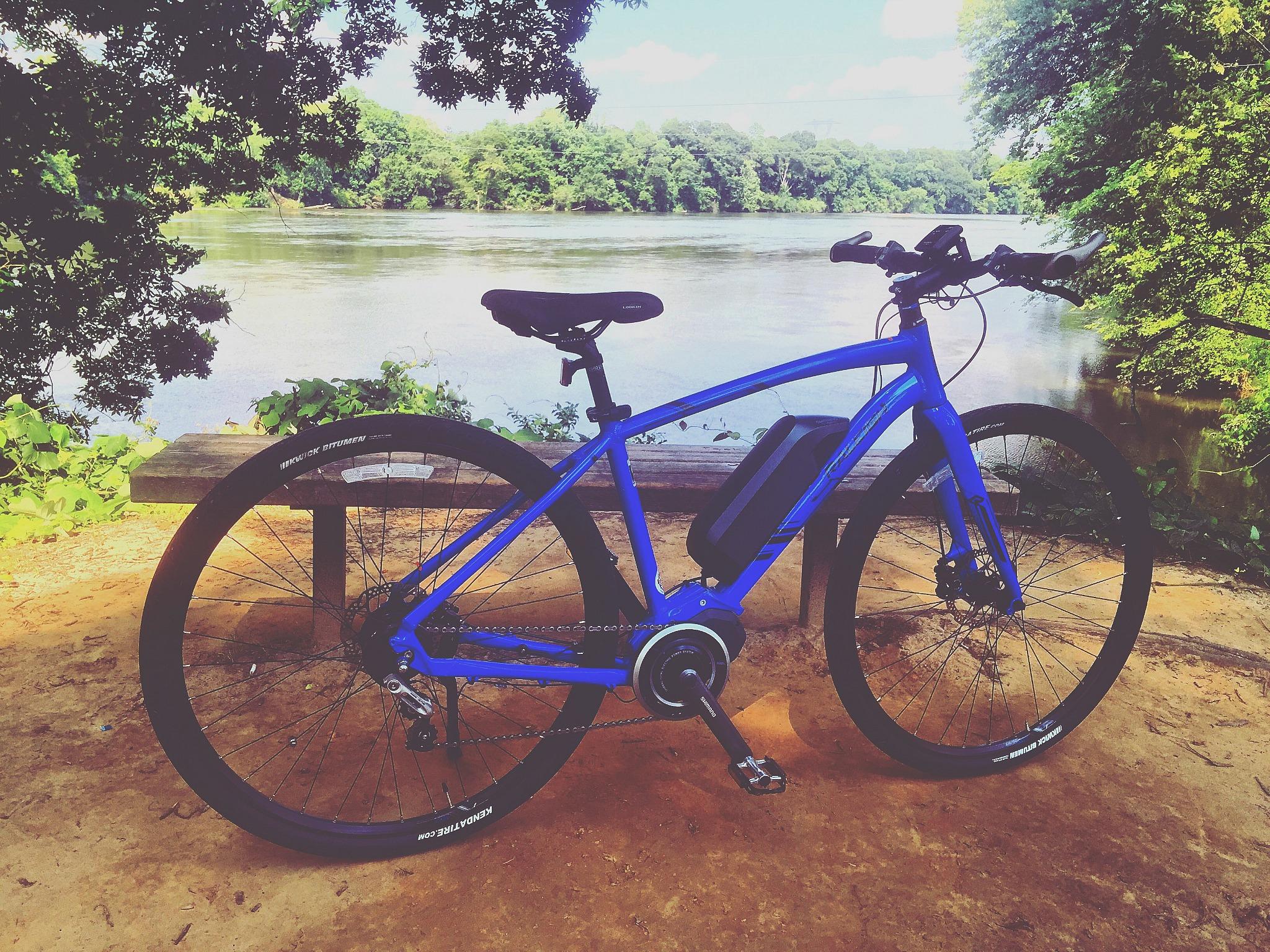 Biking Riverwalk Fort Mill SC, Catawba River