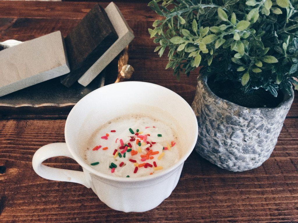 Latte With Rainbow Sprinkles
