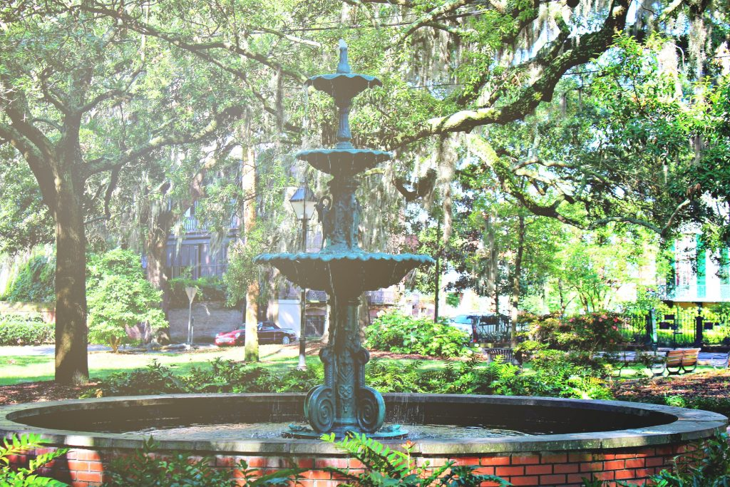 Fountain in the Lafayette square.