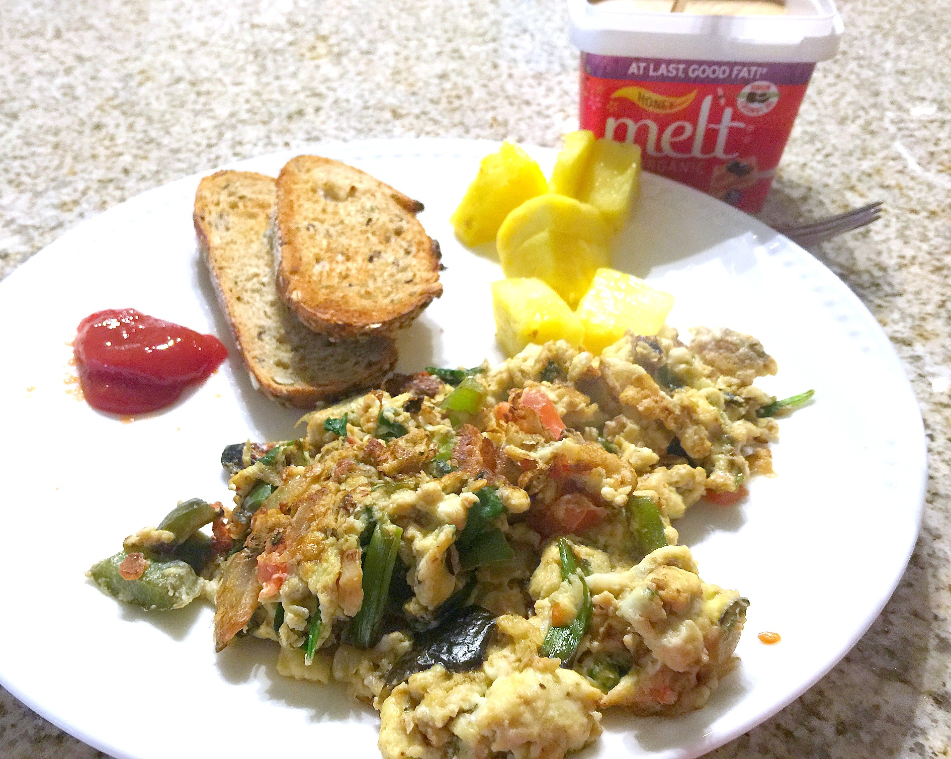 vegetable egg scramble