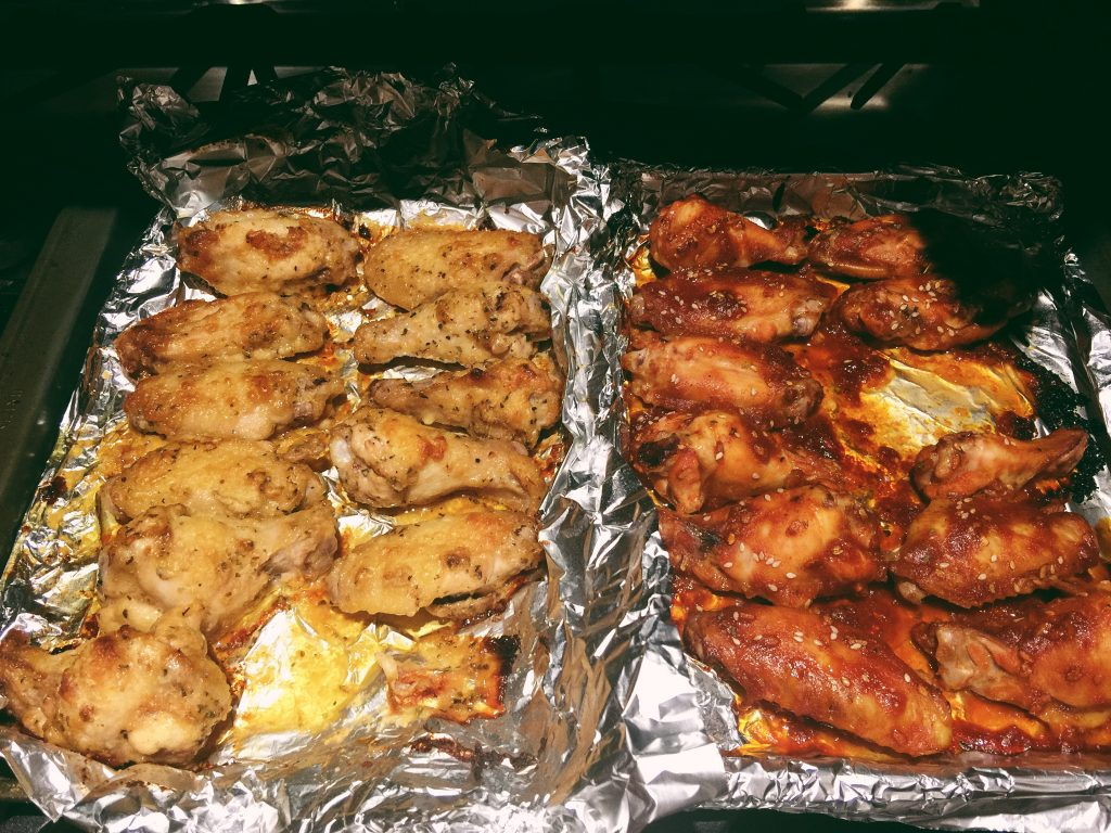 Homemade Baked Wings: BBQ/BUFFALO & Garlic Parm