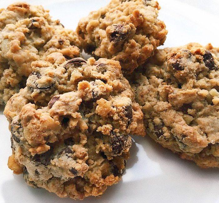 Dark Chocolate Walnut Oatmeal Breakfast Cookies