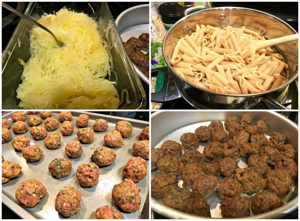 Pasta night! Homemade sauce and spaghetti squash.