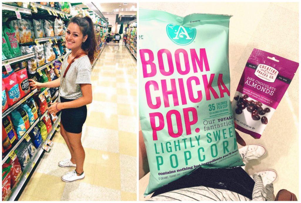 Boom Chicka Pop and Dark Chocolate Almonds