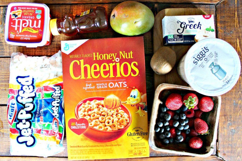Honey Nut Cheerio Fruit Breakfast Pizza
